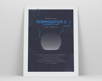 Terminator 2 ~ 80s Movie Poster, Film Gift, Art Print by Christopher Conner