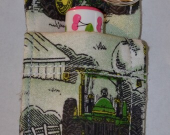 Chapstick Holder, Chapstick Keychain, John Deere