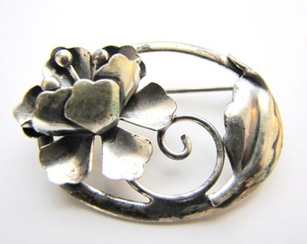 Sterling JewelArt Brooch Pin Art Nouveau from AllieEtCie