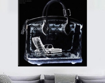 Oliver Gal 20x20 X-Ray Couture Unframed Canvas Print