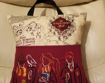 Marauder's Map Pocket Pillow, Bed Pillow, Vacation Pillow