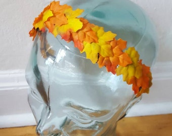 Autumn Leaf Crown, Maple Leaf Tiara, Fall Headband, Autumn Tiara, Autumn Leaf Tiara,  Maple Leaf Headband, Orange Leaf Headband, Fall Tiara