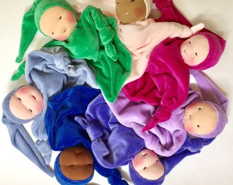 Waldorf doll, soft doll, Made to order, Custom Blanket Doll, Baby shower gift, waldorf toy, cloth doll, rag doll, natural doll, for infants