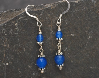 Blue Onyx Delicate Earrings
