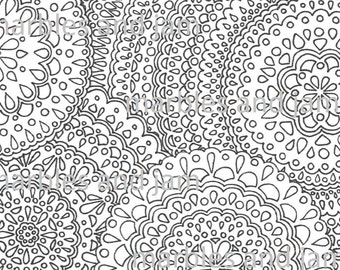 Mandala Printable Adult Coloring Page adult colouring sheet