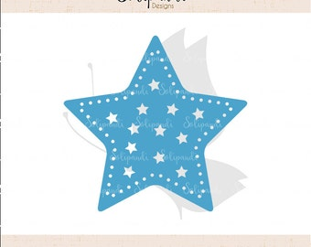 Christmas Star - SVG and DXF Cut Files - for Cricut, Silhouette, Die Cut Machines // scrapbooking // paper crafts // solipandi // #161