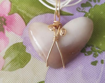 Quartzite Heart Shaped Pendant