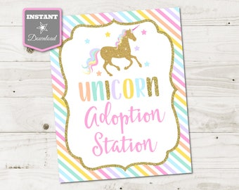 INSTANT DOWNLOAD Printable 8x10 Make Your Own Unicorn Magic Sign / Unicorns & Rainbows Collection / Item #3526
