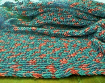 hand crocheted, large lap blanket