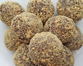 Decadent homemade chocolate truffles S'mores 1/2 lb. with box