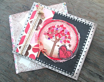 Valentine's Day Card - Anniversary Card - Love Card - Romantic Card - Red and Black Card - Card for Her - Amour Card - Heart Card