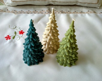 Christmas candles, Christmas tree candles, Christmas tree beeswax candles, beeswax candles, Christmas tree candle