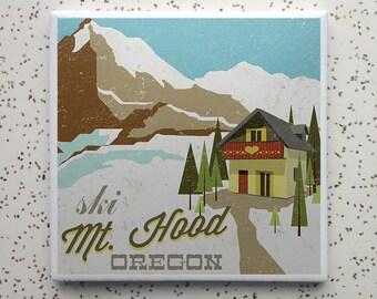 Ski Mt Hood Tile Coaster