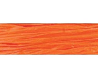 Raffia ribbon100 yards Orange matte raffia    (20-M-019)