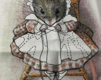 APRILSALE Mouse Stitching Canvas You Finish As You Would Like Counted Cross Stitch Canvas
