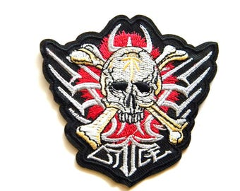 Skull and Crossbones Embroidered Patch Appliqué
