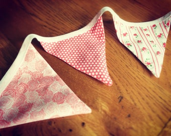 Lavender filled bunting