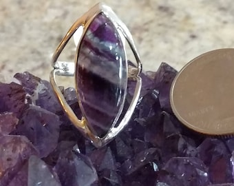 Abstract Fluorite Ring Size 8 1/2