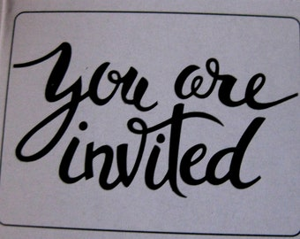 You Are Invited Embossing Folder