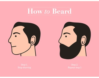 How to Beard- a Handy Guide (A3 print)