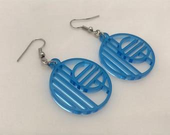 Retro Geometric Laser Cut Acrylic Earrings