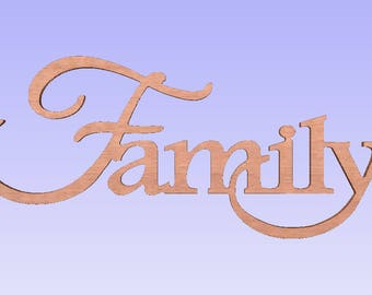 large Unfinished Family sign,family wood word, unfinished family word,family plaque,family letters ,faith word,home word,10.5x24