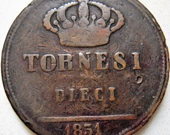 Antique Tornesi Coin 1831 Naples and Sicily Copper