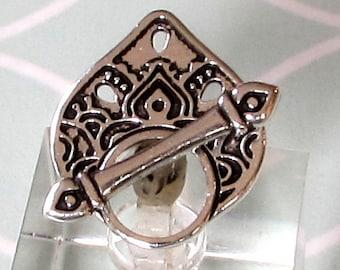 TierraCast Temple Toggle Clasp, Caravan, Antique Silver, TS136