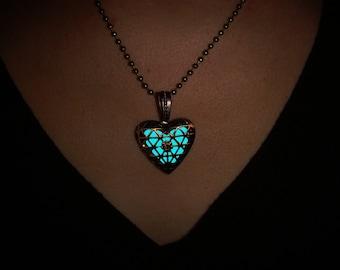 Halskette der im Dunkeln leuchtet | Leuchtende Halskette | Leuchtende Schmuck