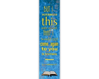 Scripture Bookmark - 2 Corinthians 2:1 (KJV)