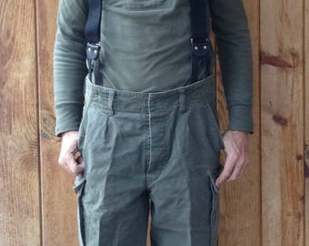 Vintage 1990's Italian Military Alpine Climbing Knickers / Pants / Wool blend / Cropped / 34.5