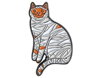 Mummy Cat Pin -  cat pin - cat enamel pin - Halloween enamel Pin - Halloween pin - Halloween cat pin lapel pin hat pin