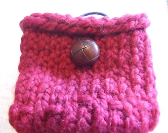 Blood red Wool  Mini bag