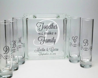 Blended Family Sand Ceremony Set - Unity Candle Alternative - Together We Make a Family - Beach Wedding Decor -Blended Family  Wedding Theme