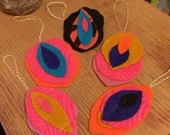 Bright Ideas Vagina Ornament 5 pack