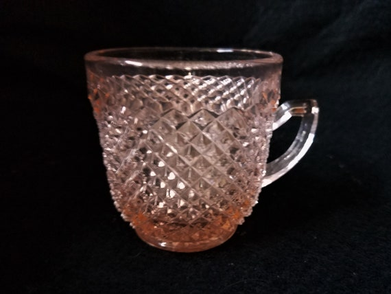 Pink Depression Glass Demitasse Cup