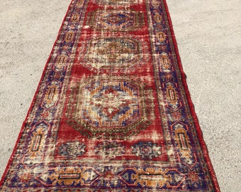 "152"" x 52""  runner , big runner , red runner , vintage runner , turkish rug, rug, area rug"