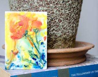 Encaustic Poppy Painting