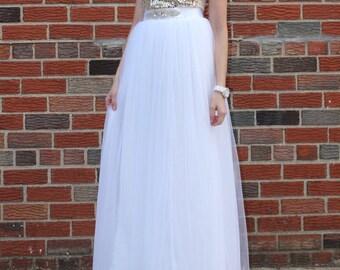 Claire - Wedding Tulle Skirt, Maxi White Tulle Skirt, Bridal Tulle Skirt, Floor Length Tulle Skirt, Bridesmaids Skirt, Wholesale
