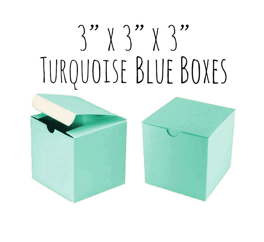 Robin\'s Egg Blue Boxes 3 x 3 x 3 Square 25 To 50