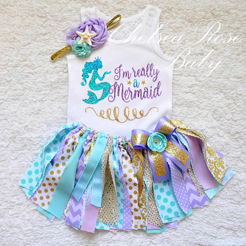 Girls Mermaid outfit Girls Mermaid shirt Mermaid starfish