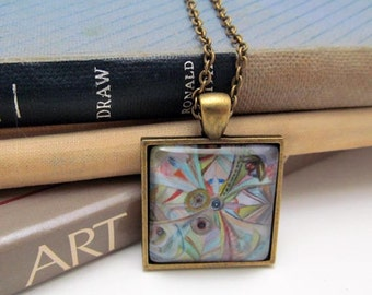 Pendant Necklace - Simple Comforts - Hobbit - By Mixed Media Artist Malinda Prudhomme