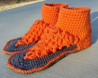 Crochet Boho Dreamz Crocodile Stitch Sandals Indoor Version Made to Order