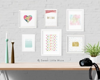 Printable Gallery Wall Art Set - printable wall art set - gallery wall art
