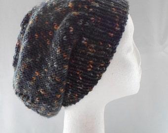 Gray Slouchy Hat Warm Cap Winter Fashion Ready to Ship