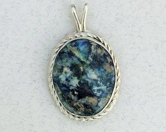 Colorful Blue Stone Pendant