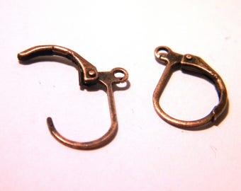 10 blank earring stud-earring - copper red-15 X 10 mm 2 G27