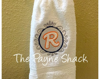 Monogrammed Towel,  Hand Towel, Housewarming Gift, Bridal Shower Gift, Embroidered