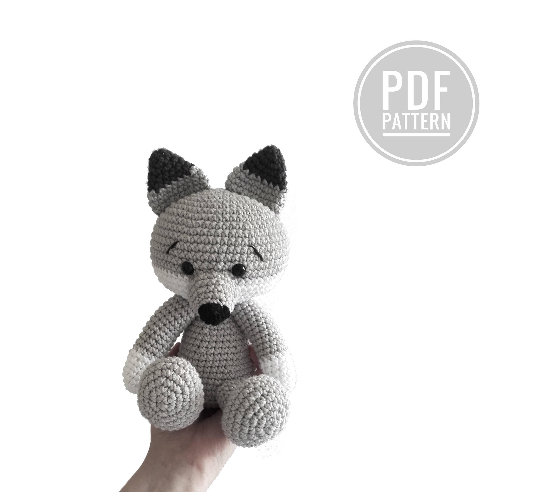Pattern: wolf and fox - amigurumi wolf - crochet wolf fox pattern ...