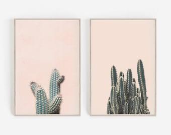 Set of Prints,Wall Decor,Cactus Prints,Cactus Wall Art,Print,Set of 2 Wall Art,Wall Art Print,Cactus Art Print,Large Wall Art,Digital Prints